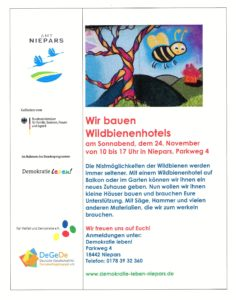 Wir bauen Wildbienenhotels am 24. November 2018